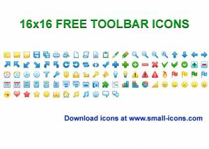 16x16 Free Toolbar Icons screenshot