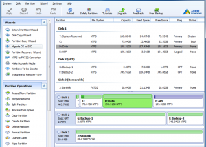 AOMEI Partition Assistant Standard Edition screenshot