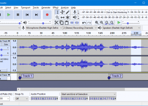 Freeware - Audacity for Windows 2.2.2 screenshot