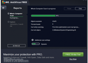 Full AVG Free Edition 2016 screenshot