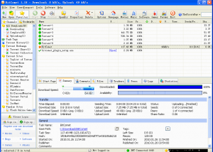 Freeware - BitComet 1.55 screenshot