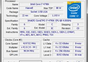 I7 4790k Max Temp