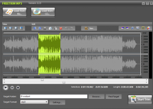 Freeware - FreeTrim MP3 7.5.1 screenshot