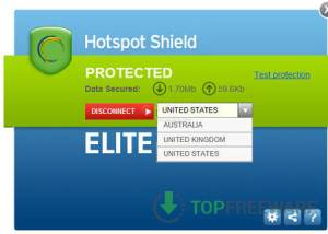 Freeware - Hotspot Shield 7.9.0 screenshot
