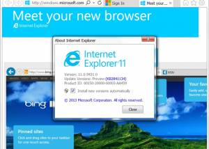 Full Internet Explorer 11 screenshot