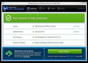 Full Malwarebytes Anti-Malware screenshot