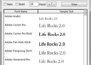Moo0 FontViewer screenshot