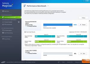 Full Samsung SSD Magician screenshot
