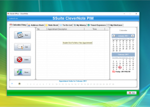 Freeware - SSuite CleverNote PIM 2.6.2.2 screenshot
