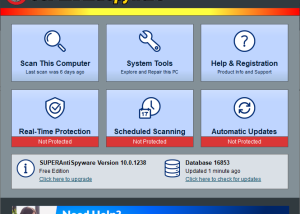 SUPERAntiSpyware Free Edition screenshot