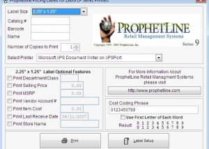 Freeware - Zebra Price Label Software 1.1 screenshot